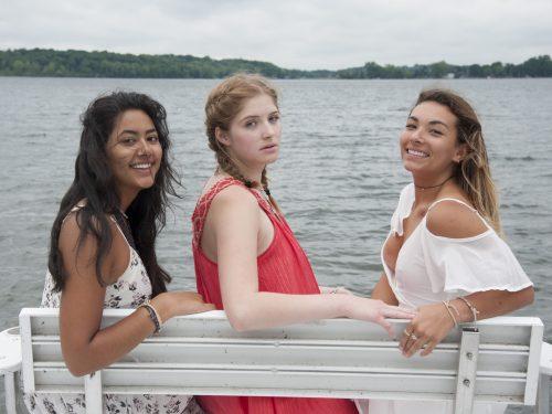 senior with friends portrait photography