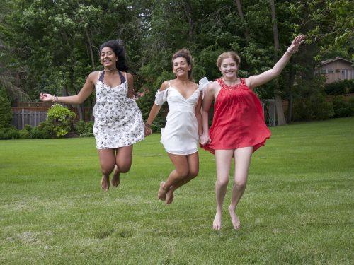 senior jumping photography